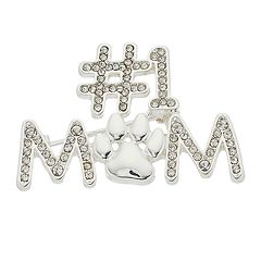 Pet Friends '#1 Mom' Paw Print Pin