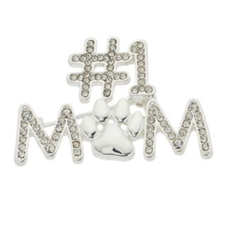 "Pet Friends ""#1 Mom"" Paw Print Pin"