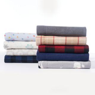 Cuddl Duds Fleece Sheet Set or Pillowcases