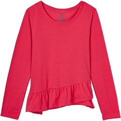 Girls 7-16 French Toast Ruffled Long Sleeve Tee