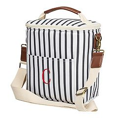 Cathy's Concepts Monogram Striped Bottle Cooler