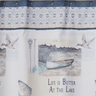 Saturday Knight, Ltd. Bass Lake Shower Curtain