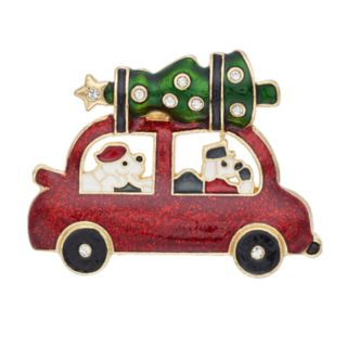 Pet Friends Christmas Tree Car Pin