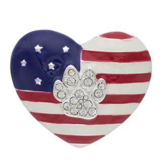 Pet Friends Heart Flag Paw Pin