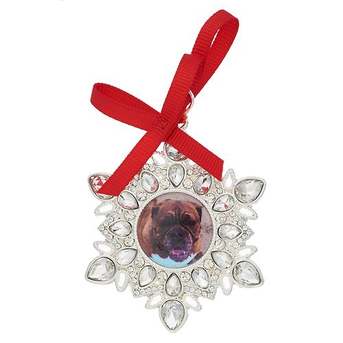 Pet Friends Holiday Snowflake Photo Frame Pin