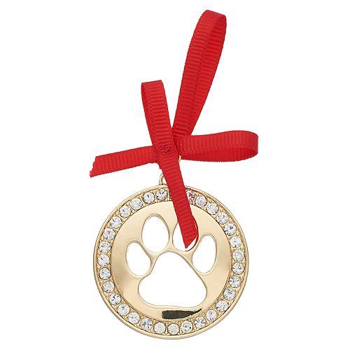 Pet Friends Holiday Dog Paw Print Pin