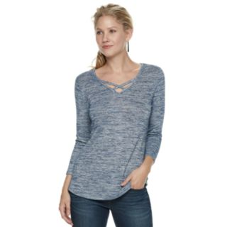 Women's SONOMA Goods for Life? Supersoft Crisscross Tee