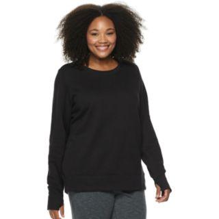 Plus Size Tek Gear® Crewneck Thumb Hole Sweatshirt