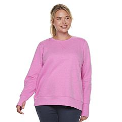 Plus Size Tek Gear® Crewneck Thumb Hole Sweatshirt