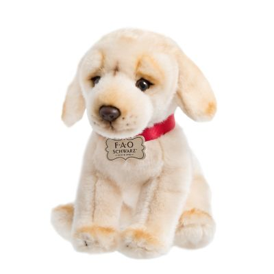 FAO Schwarz 10-inch Puppy Floppy Labrador Toy Plush