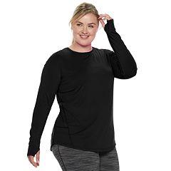Plus Size Tek Gear® Thumb Hole Long Sleeve Tee
