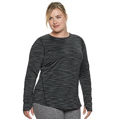 Plus Size Tek Gear® Thumb Hole Long Sleeve Tee