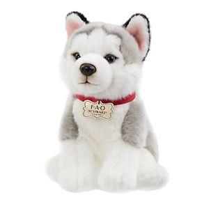 FAO Schwarz 10-inch Puppy Floppy Husky Toy Plush