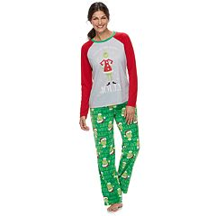 Women's Jammies For Your Families How the Grinch Stole Christmas Grinch 'This is Me Being Jolly' Top & Microfleece Bottoms Pajama Set