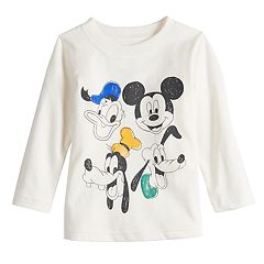 Disney's Mickey Mouse Baby Boy Donald, Mickey, Goofy & Pluto Softest Graphic Tee by Jumping Beans®