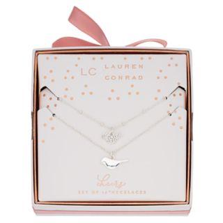 LC Lauren Conrad Bird Pendant Necklace Set