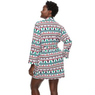 Women's Jammies For Your Families Holiday Microfleece Fairisle Robe