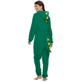 Women's Jammies For Your Families Dino Microfleece One-Piece Pajama Set