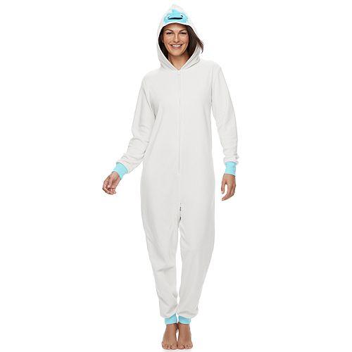 Women's Jammies For Your Families Yeti Microfleece One-Piece Pajamas