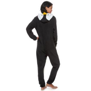 Women's Jammies For Your Families Penguin Family Pajamas Microfleece One-Piece Pajamas