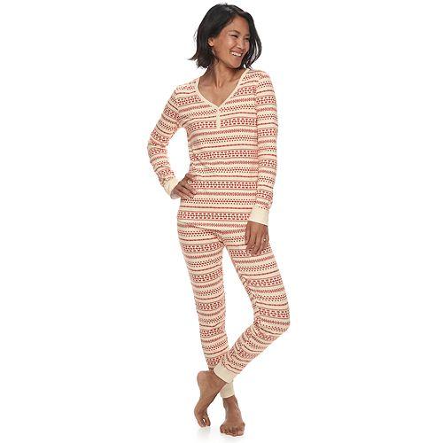 d060d18938 Women s LC Lauren Conrad Jammies For Your Families Knit Winter Fairisle  Sleep Top   Bottoms Pajama Set