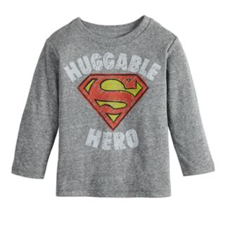 "Baby Boy Jumping Beans® Marvel Super-Man ""Huggable Hero"" Logo Graphic Tee"
