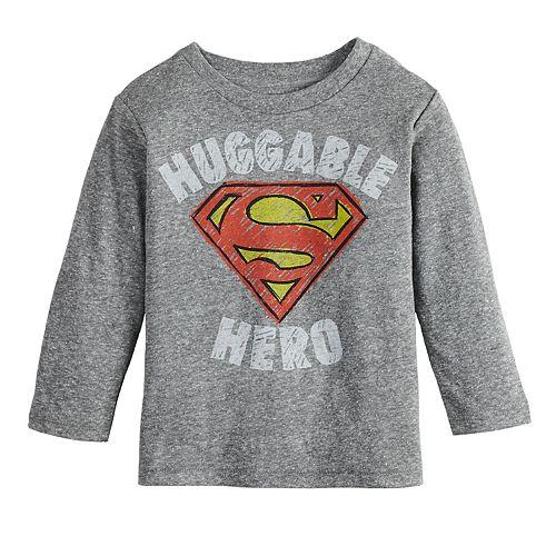 "Baby Boy Jumping Beans® Marvel Super-Man ""Huggable Hero"" Logo Graphic Tee"