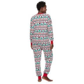 Women's Jammies For Your Families Fairisle Microfleece One-Piece Pajamas