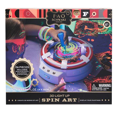 FAO Schwarz 3D Light Up Spin Art Kit