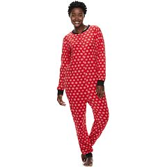 Women's Jammies For Your Families Snowflakes Microfleece One-Piece Pajamas