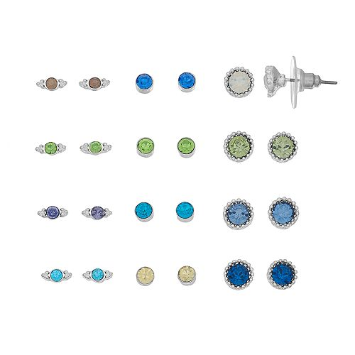 LC Lauren Conrad Simulated Crystal Stud Earring Set