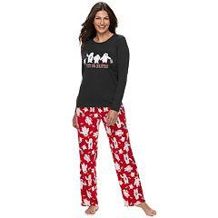 Women's Jammies For Your Families 'Yeti For Christmas' Top & Microfleece Bottoms Pajama Set