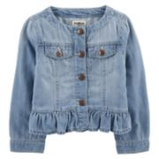 Toddler Girl OshKosh B'gosh Peplum-Hem Denim Jacket