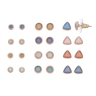 LC Lauren Conrad Triangle Stud Earring Set