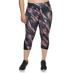 Plus Size Tek Gear® Side Panel Mid-Rise Capri Leggings