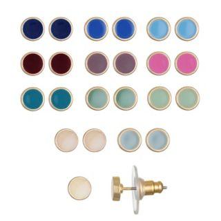 LC Lauren Conrad Bezel Stud Earring Set
