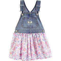 Toddler Girl OshKosh B'gosh® Floral Chiffon Denim Jumper