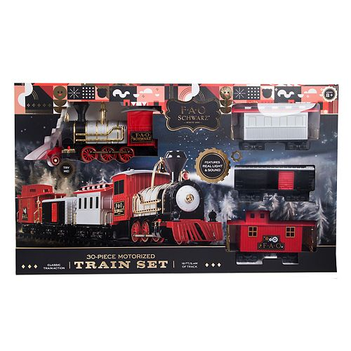FAO Schwarz 30-Piece Motorized Train Set