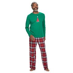 Men's Jammies For Your Families Happy Holidays Family Pajamas Top & Microfleece Bottoms Set
