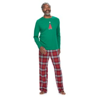 Men's Jammies For Your Families Happy Holidays Family Pajamas Top & Flannel Bottoms Set