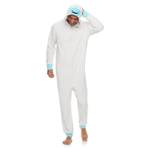 Men's Jammies For Your Families Yeti Microfleece One-Piece Pajamas