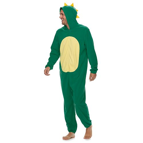 Men's Jammies For Your Families Dino Microfleece One-Piece Pajama Set
