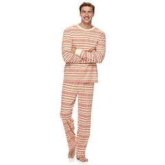 Men's LC Lauren Conrad Jammies For Your Families Knit Winter Fairisle Top & Bottoms Pajama Set