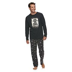 Men's Jammies For Your Families New Year's Eve 'Party Patrol' Top & Microfleece Bottoms Pajama Set