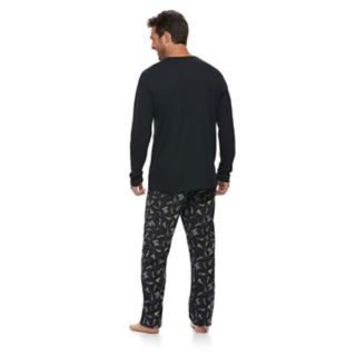 """Men's Jammies For Your Families New Year's Eve """"Party Patrol"""" Top & Microfleece Bottoms Pajama Set"""