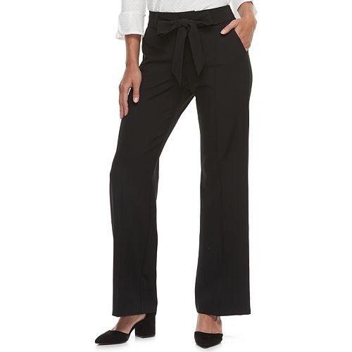 Women's ELLE™ Wide-Leg Twill Pants