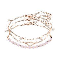 LC Lauren Conrad Heart Bracelet Set