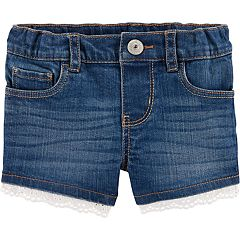 Toddler Girl OshKosh B'gosh® Eyelet-Trim Denim Shorts