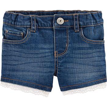 6d7ef91d45 Toddler Girl OshKosh B'gosh® Eyelet-Trim Denim Shorts