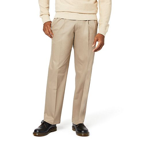 d09cb9fb5 Men's Dockers® Signature Khaki Lux Relaxed-Fit Stretch Pleated Pants D4
